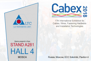 La Triveneta Cavi will take part at Cabex | Moscow, 20th-22nd March 2018